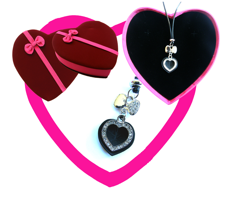 Valentines Premium Boxed Jewellery (Necklace & Pendant) Gift Set-Design H (CLON)