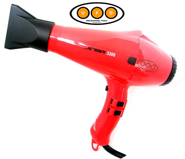 UFO Professional Jinba 3300-1800 Watts-Professional Hairdryer-Red