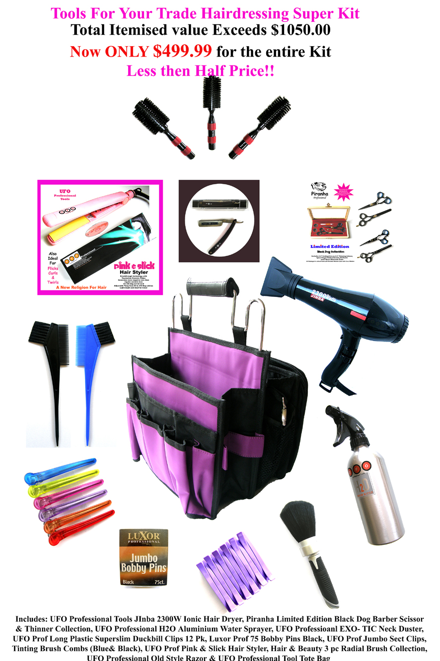 Tools For Your Trade Hairdressing Super Kit-as shown
