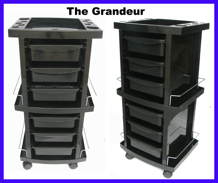 """The Grandeur""- (BD-12)-A Stylish 7 Tier Trolley with multiple towel racks and accessories rack on the top"