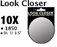 1850-Look Closer-10X Magnifying Mirror-Dia 3.5""