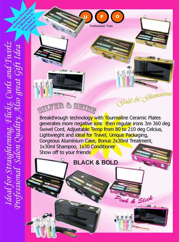 UFO Professional Tools-Gold & Glamourous Tourmaline Hair Straightener-as good as GHD!-A New Religion For Hair