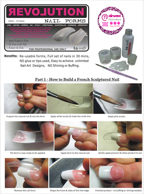 Revolution Nail Forms-300ct-10 Sizes (Re-Usable)