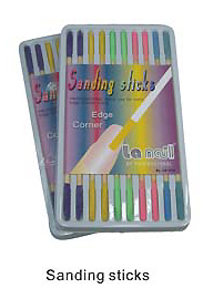 Nirvana Nail Sanding Sticks-Ideal for filing edges and corners-Pack of 10 sticks