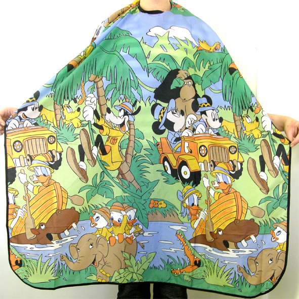 Impresso Kids Cutting Cape-Jungle Cartoon Print
