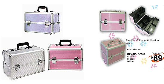 BB700-She-Vani-T Pastel Collection Beauty Case-Colour Silver