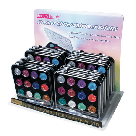 Beauty Treats 12 Colour Glitter Shimmer Palette-For all over sparkle and shine