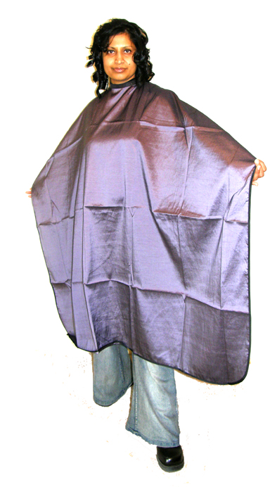 "Impresso ""Crinkle"" Woven 2 Tone Water Repellent Hairdressing Cape-Purple"