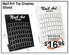 Nail Art Tip Display-60 ct-White