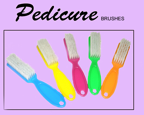 Pedicure Brushes in Assorted Colours