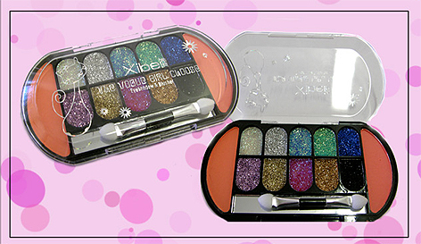 Glitter Eye Shadow and Blush Set