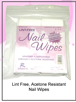 Lint Free Acetone Resistant Strong Nail Wipes