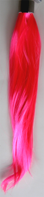 Party Hair Pieces-Synthetic Hair-Wrap Around your own hair-Hot Pink