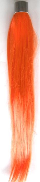 Party Hair Pieces-Synthetic Hair-Wrap Around your own hair-Orange