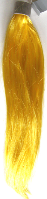 Party Hair Pieces-Synthetic Hair-Wrap Around your own hair-Yellow