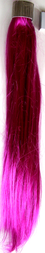 Party Hair Pieces-Synthetic Hair-Wrap Around your own hair-Magenta