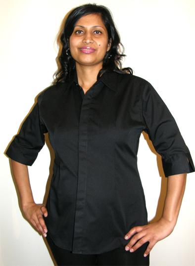 Beauty Uniform Design B-Black-X-Large