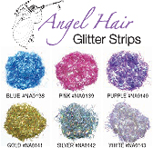 Angel Hair Glitter Strips-Silver