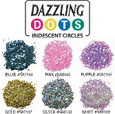 Dazzling Dots Iridescent Circles-White
