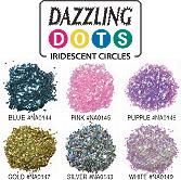 Dazzling Dots Iridescent Circles-Blue