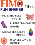 Fimo-Fun Shapes-10 ct-Pink Butterflies
