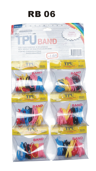 TPU-Thermo-resistant Elastic Bands (Multi-Coloured)-Sold in individual Packs