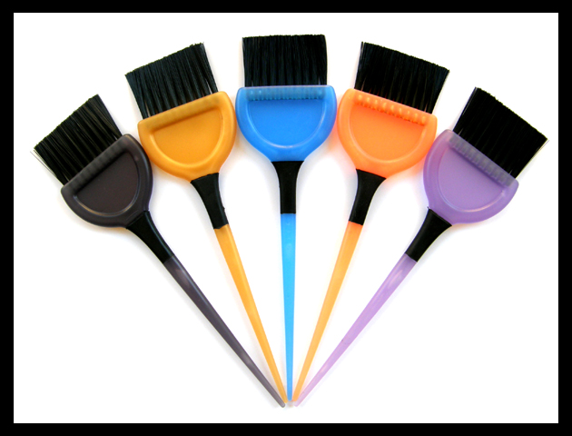 Impresso Rubber Grip Large Tint Brush-Transluscent Colours-Gold/Yellow