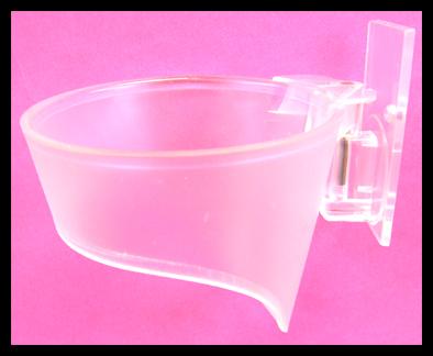 "Transparent Clear Plastic ""Funnel"" Mountable Hair Dryer Holder"
