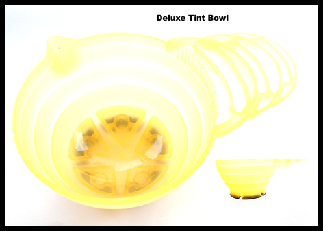 Deluxe Tint Bowl with Rubber Grip Base-Translucent Yellow
