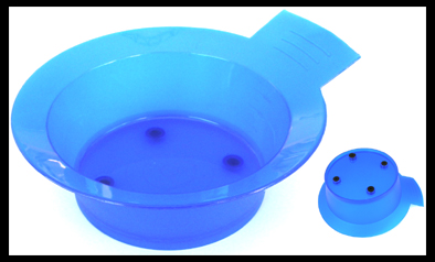 Tint Bowl Blue with Rubber Grip Base