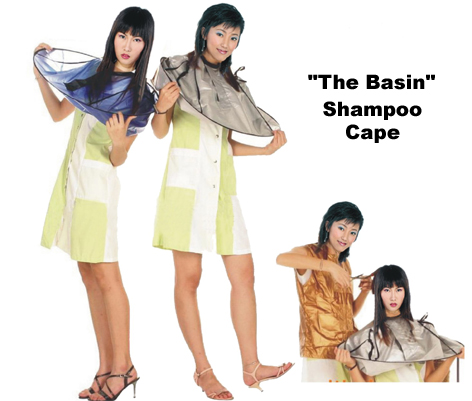 """The Basin"" Shampoo Cape-Available in Silver Only"