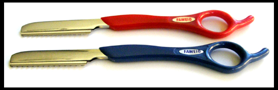 Faweio Styling Razor with Blade-Red