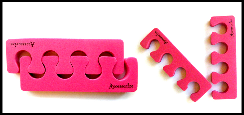 Accessorize Toe Separators (Soft)-Hot Pink-Price per pair