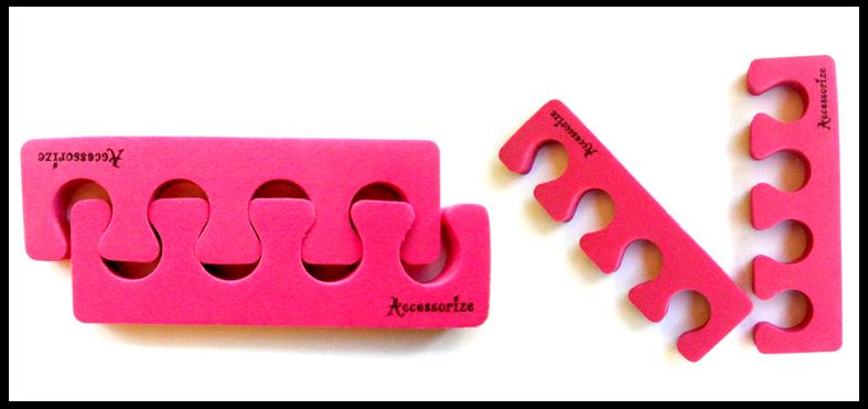 Accessorize Toe Separators (Soft)-Hot Pink-Price per pair
