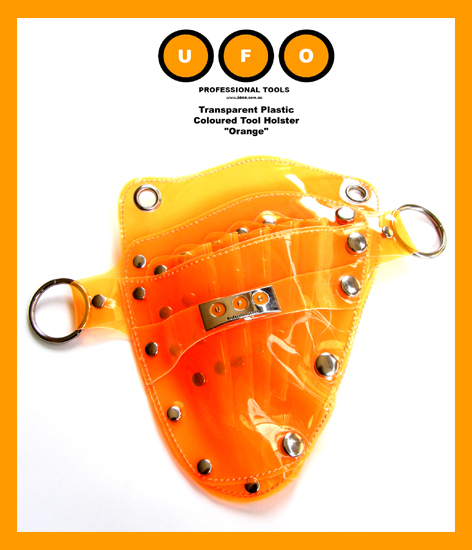 UFO Pro Transparent Plastic Coloured Tool Holster-Orange