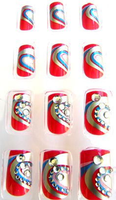 Nirvana Collection 3D Nail Art Tips-Case of 24 Tips (Design B)
