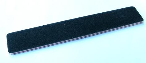 Nirvana Collection Cushioned Rectangular Plank Buffer-Black