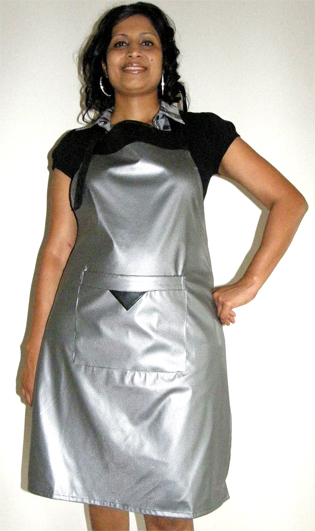 Classic Club Soft PVC Apron-Silver-made from 100% PVC