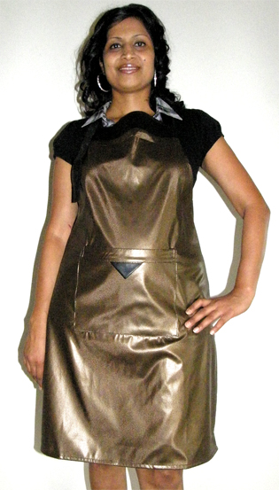 Classic Club Soft PVC Apron-Gold-made from 100% PVC