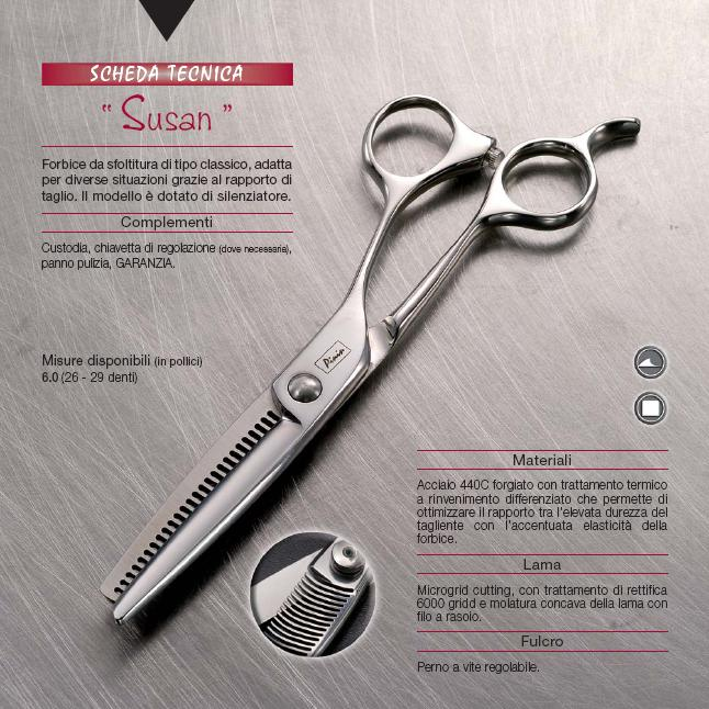 Pinin-Made in Italy-Casablanca Range-Susan Thinning Scissor-40 teeth