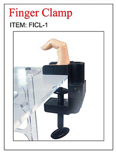 Nirvana Collection Finger Clamp-Plastic-Black
