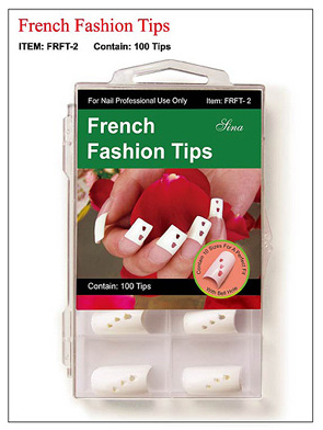 French Fashion Nail Tips with Bell Holes-100 tips/box