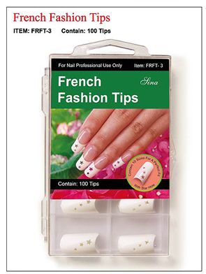 French Fashion Nail Tips with Star Holes-100 tips/box
