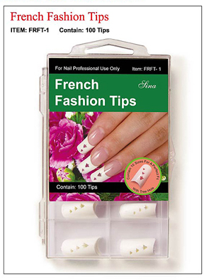 French Fashion Nail Tips with Christmas Holes-100 tips/box