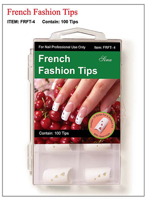 French Fashion Nail Tips with Heart Holes-100 tips/box
