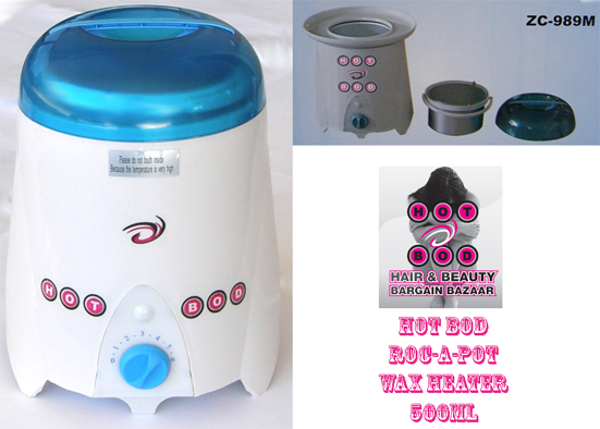 Hot Bod Roc-A-Pot Wax Heater 500cc - Only $54.95 !!!