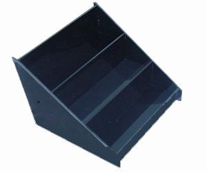 Mini Nail Polish Display Step Shelf-Holds 12 Standard Sized Polish Bottles-Black