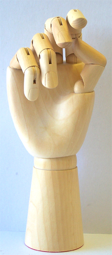 Nirvana Wooden Manicure Practice Hand with moveable fingers