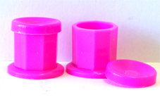 Nirvana Collection Dappen Dish with Lid (Plastic)-Hot Pink-individually priced