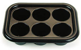 Rectangular 6 Hole Nail Soaker Tray-Black